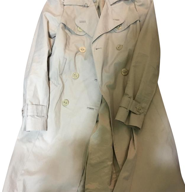 Preload https://item4.tradesy.com/images/juicy-couture-beige-worn-one-times-trench-coat-size-petite-2-xs-22506578-0-1.jpg?width=400&height=650