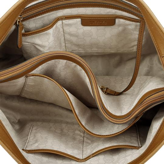 MICHAEL Michael Kors Saffiano Travel Laptop Work Tote in Luggage