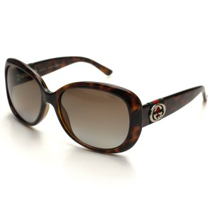 Gucci NEW Gucci GG 3644/S Havana Brown Polarized Striped Logo Sunglasses