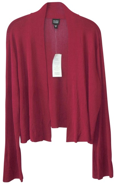 Preload https://item4.tradesy.com/images/eileen-fisher-red-xl-lingonberry-cardigan-size-16-xl-plus-0x-22506748-0-1.jpg?width=400&height=650