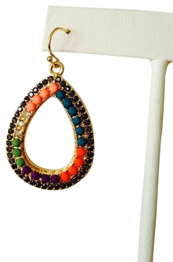 Other Embellished by Leecia NWOT Faceted Multi-Color Crystal Teardrop Dangle Earrings
