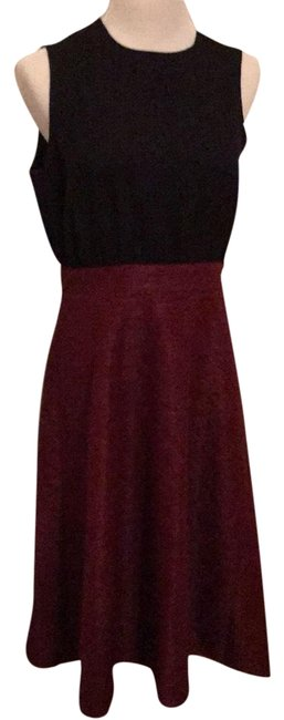 Item - Black and Burgundy Mid-length Cocktail Dress Size 8 (M)