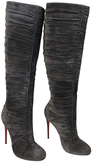 Preload https://item5.tradesy.com/images/christian-louboutin-grey-ruched-knee-high-bootsbooties-size-us-8-regular-m-b-22506764-0-5.jpg?width=440&height=440