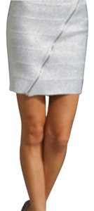 Pleasure Doing Business Mini Skirt silver