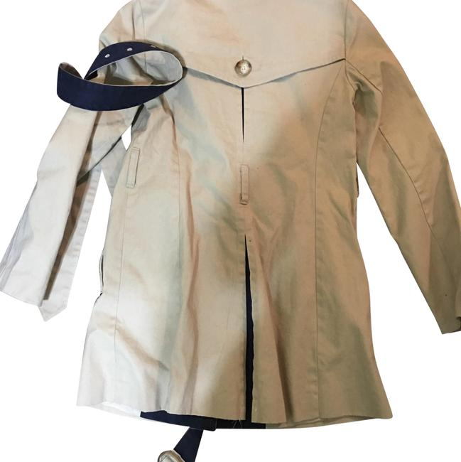 Preload https://item5.tradesy.com/images/ann-taylor-loft-blue-and-beige-and-trench-coat-size-00-xxs-22506834-0-1.jpg?width=400&height=650