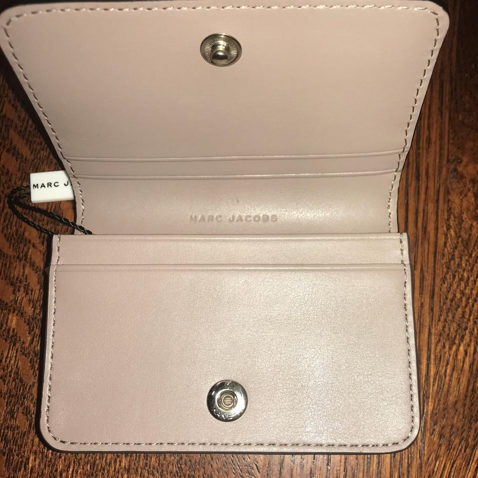 Marc by Marc Jacobs Quartz Grey M0013053 Leather Card Case Wallet ...
