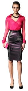 Catherine Malandrino Vinyl Skirt Black