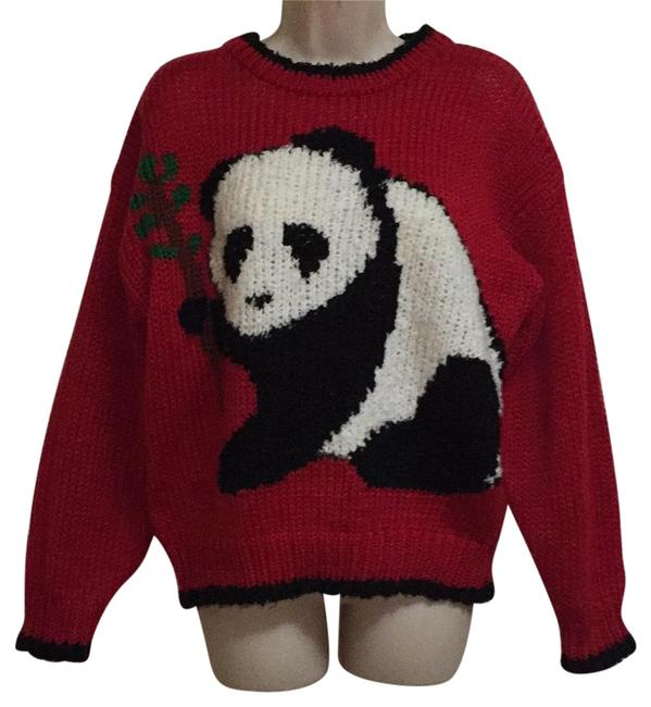 Preload https://item2.tradesy.com/images/red-vintage-1980s-panda-bear-sweater-activewear-size-12-l-22506921-0-1.jpg?width=400&height=650