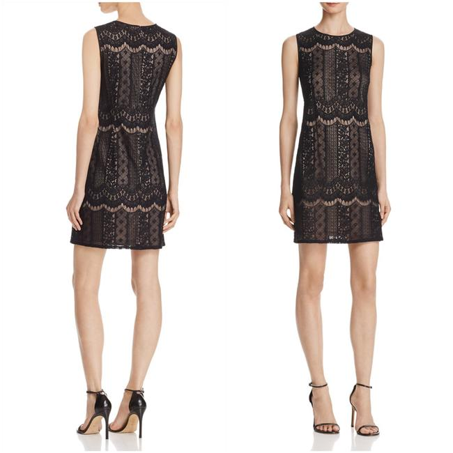 Preload https://item4.tradesy.com/images/adrianna-papell-black-pale-pink-lace-sheath-short-cocktail-dress-size-12-l-22506938-0-0.jpg?width=400&height=650