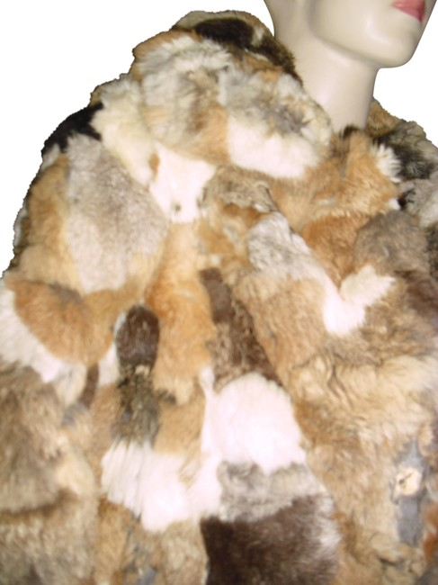 Preload https://item4.tradesy.com/images/genuine-calico-rabbit-fur-ombre-brown-beige-taupe-soft-luxurious-size-12-l-22506963-0-1.jpg?width=400&height=650