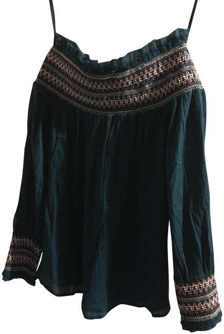 Preload https://img-static.tradesy.com/item/22506976/love-sam-dark-green-blouse-size-4-s-0-1-650-650.jpg
