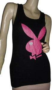 Playboy Top black,rose pink