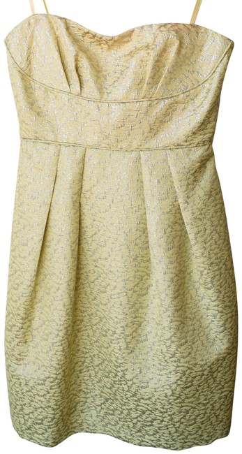 Preload https://item5.tradesy.com/images/bcbgmaxazria-pale-yellow-with-silver-detail-bcbg-short-cocktail-dress-size-0-xs-22507134-0-1.jpg?width=400&height=650