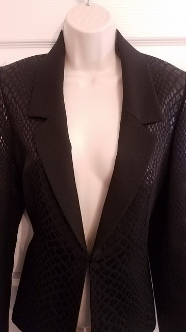 Catherine Malandrino Jacket Black Shine Blazer