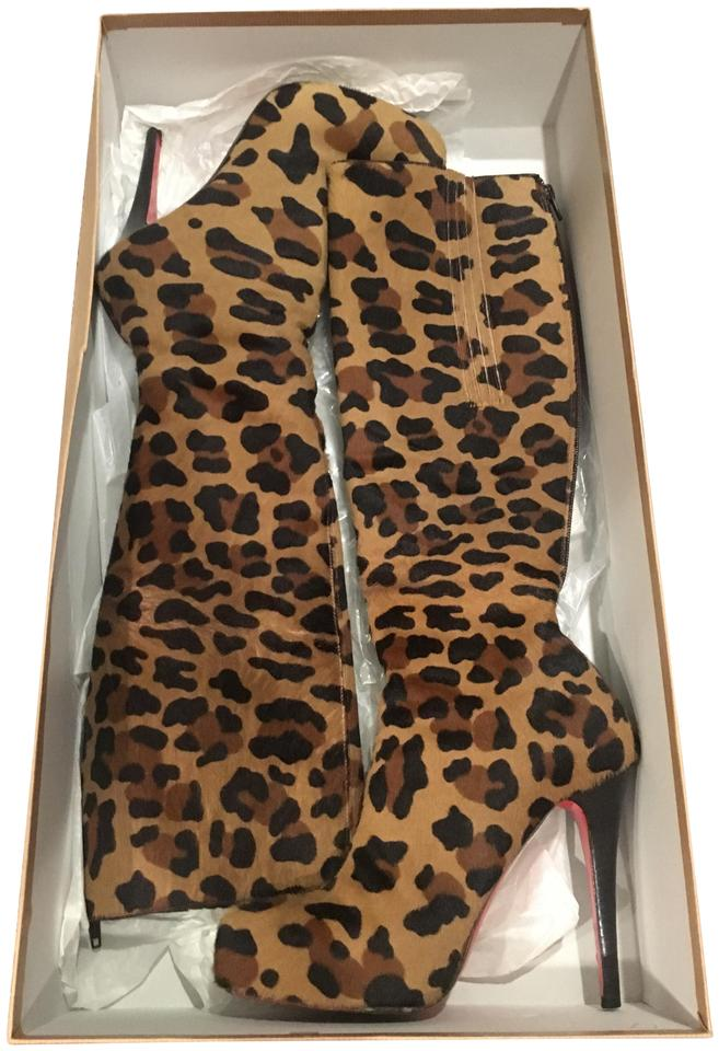 df5ee9a98e59 Christian Louboutin Leopard Alta Ariella Tall Pony Kamary Boots Booties