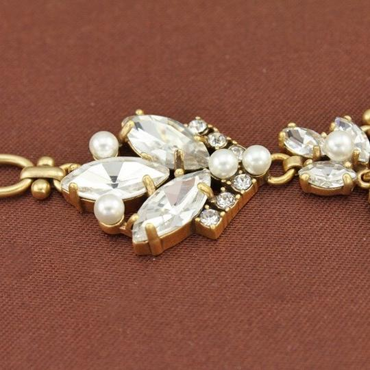 J.Crew NWT. J. Crew crystal and pearl chandelier necklace
