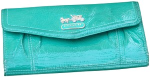 Coach Coach Green Patent Leather Wallet