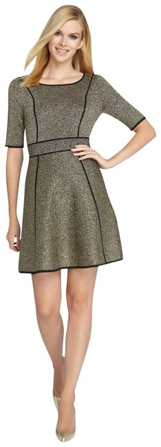 Preload https://item5.tradesy.com/images/catherine-malandrino-metallic-holland-fit-and-flare-sparkle-knit-mid-length-cocktail-dress-size-8-m-22507399-0-1.jpg?width=400&height=650