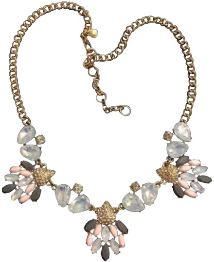 Preload https://img-static.tradesy.com/item/22507425/jcrew-gold-pink-clear-opaque-statement-necklace-0-5-540-540.jpg