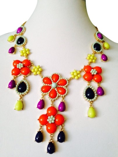 Preload https://item2.tradesy.com/images/multi-colorgold-embellished-by-leecia-nwot-flower-statement-necklace-2250751-0-0.jpg?width=440&height=440