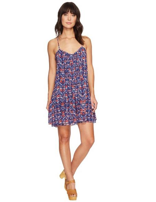 Sanctuary short dress multicolored Blue Spaghetti Strap Floral on Tradesy