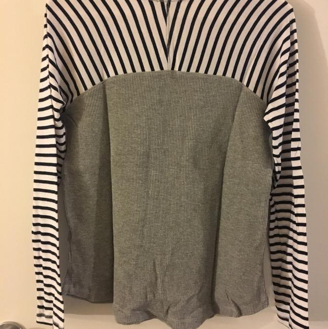 Splendid T Shirt Grey with Navy Stripes Image 1
