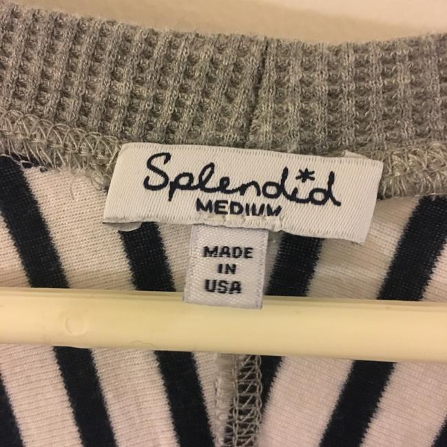 Splendid T Shirt Grey with Navy Stripes Image 3