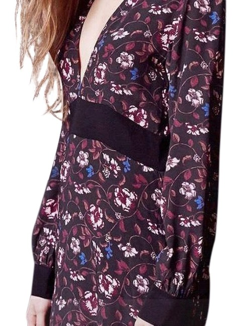 Preload https://item1.tradesy.com/images/for-love-and-lemons-wine-colored-print-and-floral-mid-length-short-casual-dress-size-4-s-22507655-0-3.jpg?width=400&height=650