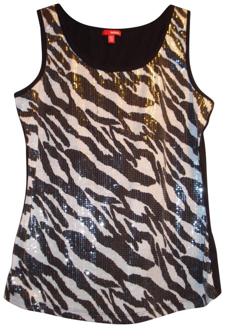 Preload https://item5.tradesy.com/images/bongo-black-and-white-zebra-stretch-sequined-striped-tank-topcami-size-8-m-22507664-0-1.jpg?width=400&height=650