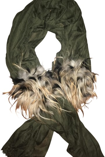 Preload https://item5.tradesy.com/images/fendi-olive-green-touch-of-fur-scarfwrap-22507709-0-1.jpg?width=440&height=440