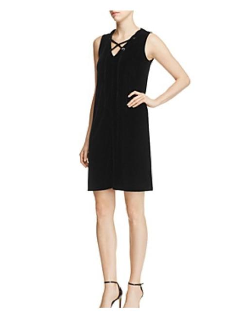 Preload https://item1.tradesy.com/images/design-history-black-lace-up-velvet-shift-short-cocktail-dress-size-16-xl-plus-0x-22507715-0-0.jpg?width=400&height=650