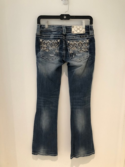 Miss Me Boot Cut Jeans-Distressed Image 1