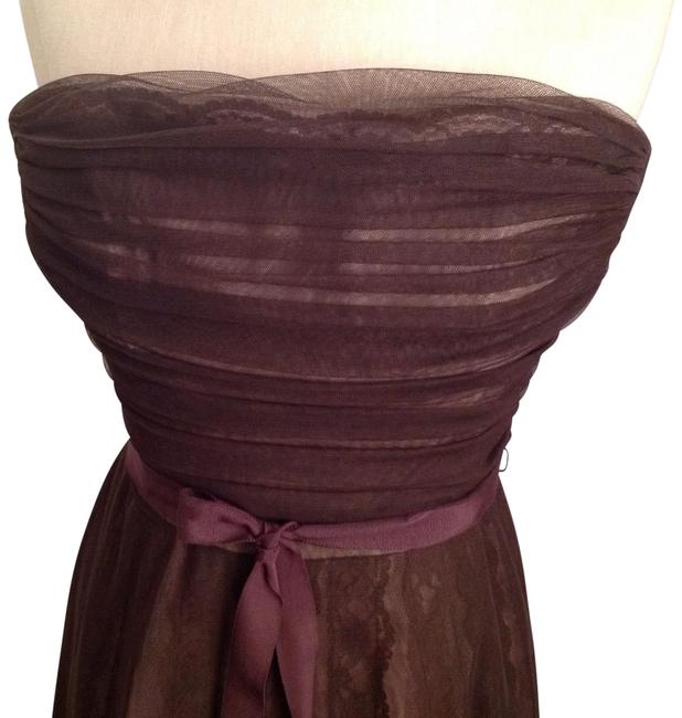 Preload https://img-static.tradesy.com/item/22507787/bcbgmaxazria-chocolate-brown-lace-and-tulle-mid-length-cocktail-dress-size-8-m-0-2-650-650.jpg
