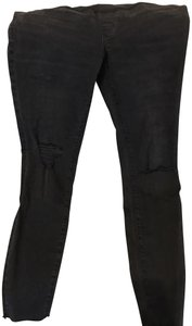 Madewell maternity over-the-belly skinny jeans in black sea