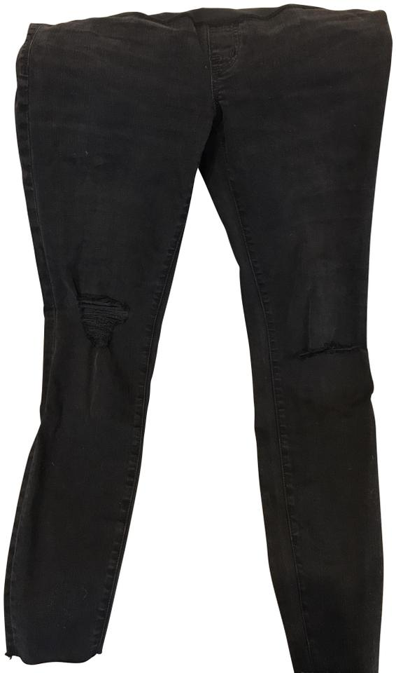911ab51fa2f76 Madewell maternity over-the-belly skinny jeans in black sea Image 0 ...