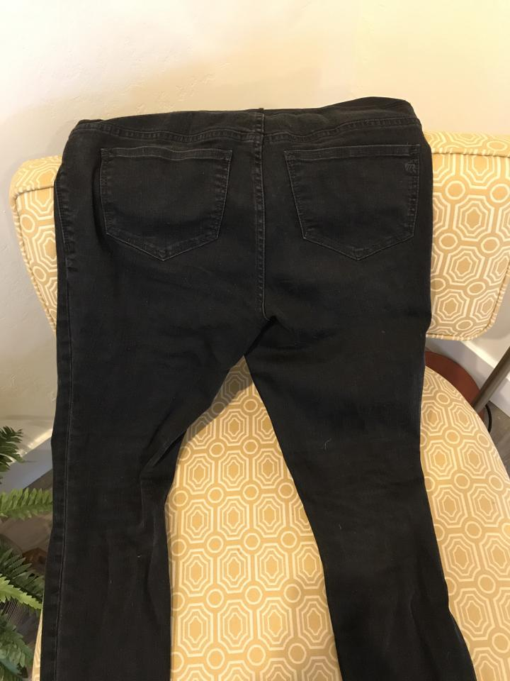 e412069be0538 Madewell maternity over-the-belly skinny jeans in black sea Image 3. 1234
