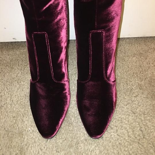 Saint Laurent Plum Bordeaux Boots