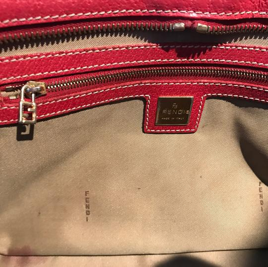 Fendi Satchel in red and gold