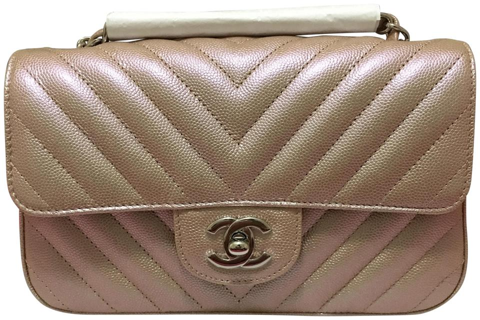e96ad5acd192c5 Chanel Mini Caviar Mini Flap Metallic Mini Light Mini Pink Mini Cross Body  Bag Image 0 ...