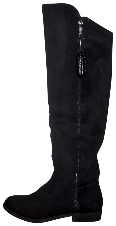 26eb8c6cb9a9 Style   Co Black Hadleyy Over-the-knee Calf Boots Booties Size US 8 ...