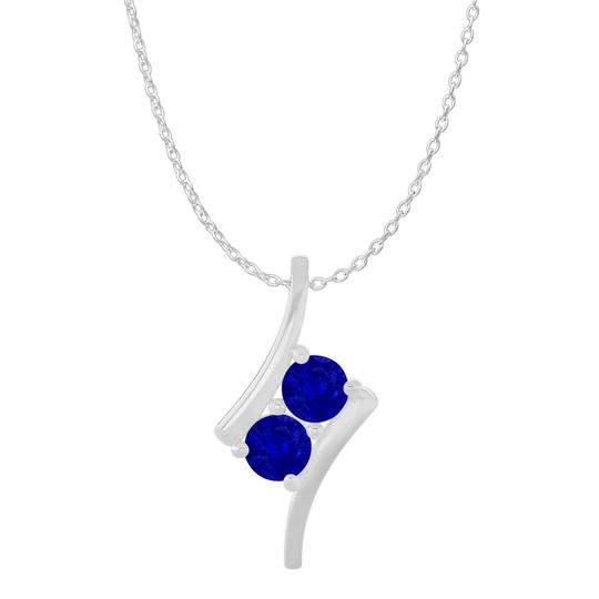 Preload https://item3.tradesy.com/images/blue-silver-two-stone-sapphire-freeform-pendant-925-sterling-necklace-22507947-0-0.jpg?width=440&height=440