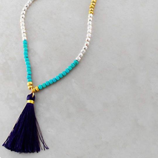 Anthropologie Free People Tassel Necklace