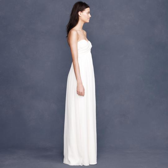 J.Crew Ivory Silk Chiffon Taryn Destination Wedding Dress Size 4 (S)