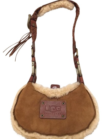 Preload https://item3.tradesy.com/images/ugg-australia-shearling-trimmed-chestnut-suede-leather-shoulder-bag-22508057-0-1.jpg?width=440&height=440