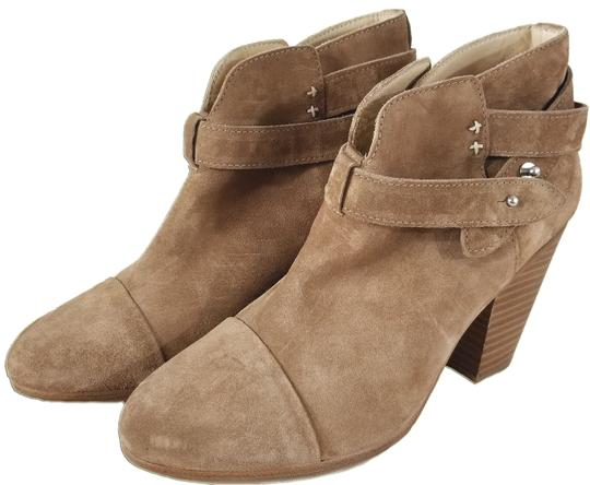 Rag & Bone Ankle Padded Insole Made In Italy Leather Lining Camel Suede Boots