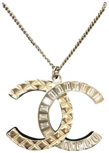 Chanel Chanel CC Golden crystal necklace