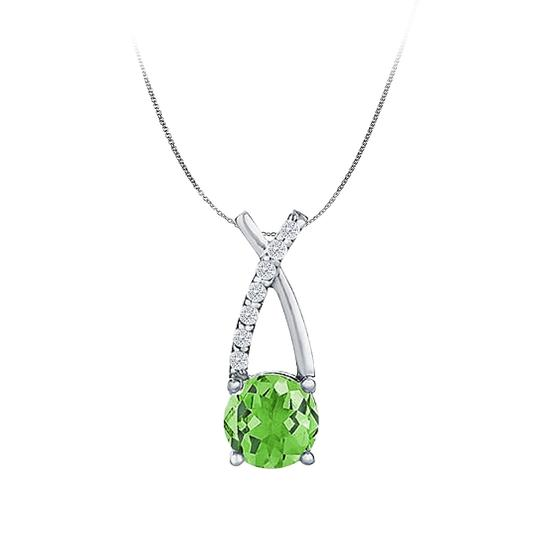 Preload https://item3.tradesy.com/images/green-silver-925-cz-peridot-pendant-semi-infinity-design-necklace-22508197-0-0.jpg?width=440&height=440