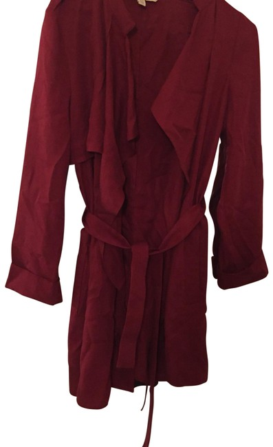 Preload https://item3.tradesy.com/images/zara-red-wine-trench-coat-blazer-size-6-s-22508232-0-1.jpg?width=400&height=650