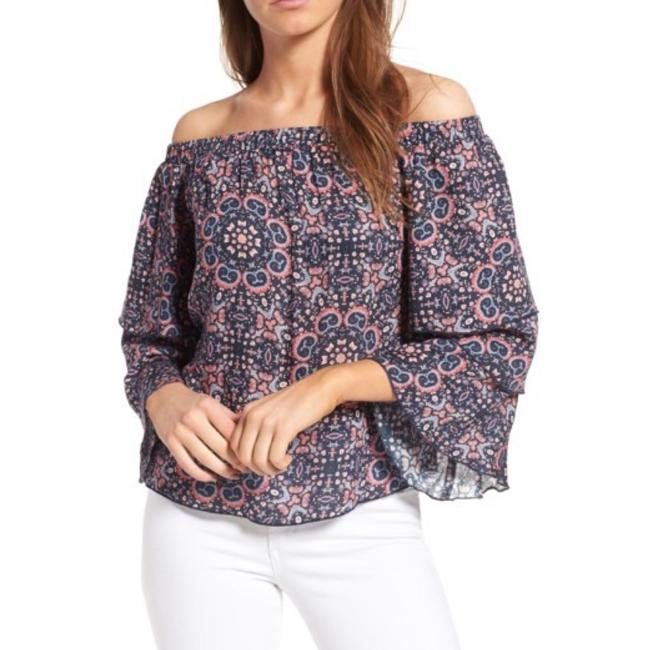 Preload https://img-static.tradesy.com/item/22508273/ella-moss-blackberry-minoro-mosaic-off-the-shoulder-m-blouse-size-8-m-0-0-650-650.jpg