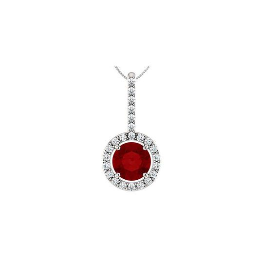 Preload https://img-static.tradesy.com/item/22508324/red-silver-created-ruby-and-cz-halo-style-drop-pendant-in-925-sterling-12-necklace-0-0-540-540.jpg